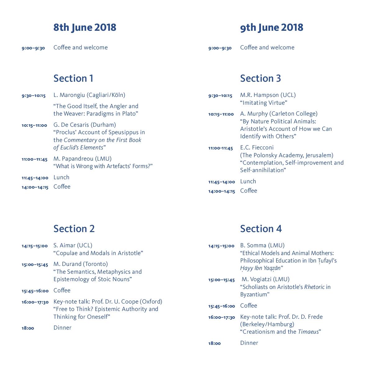 Konferenz-Programm s